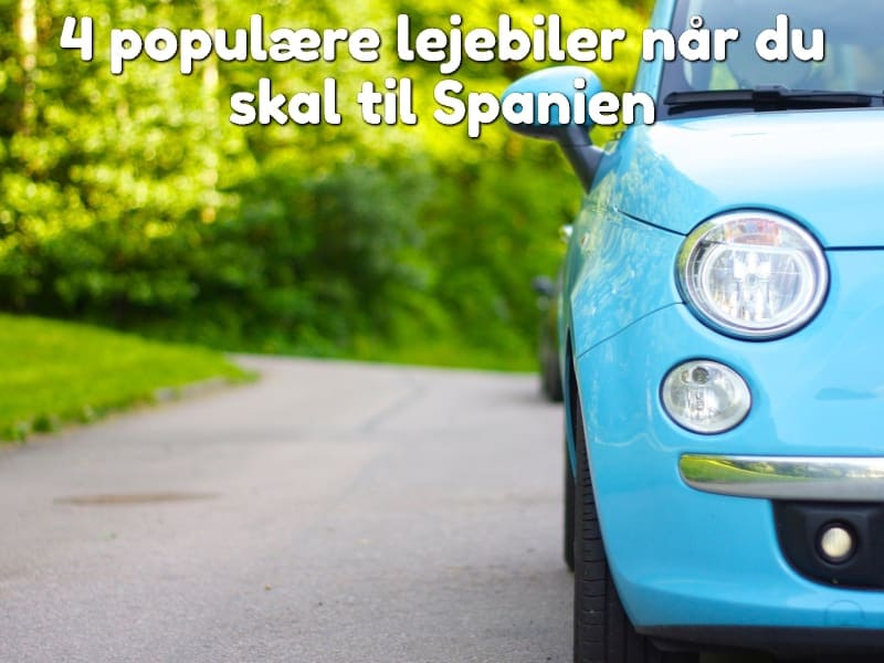 4 populære lejebiler når du skal til Spanien